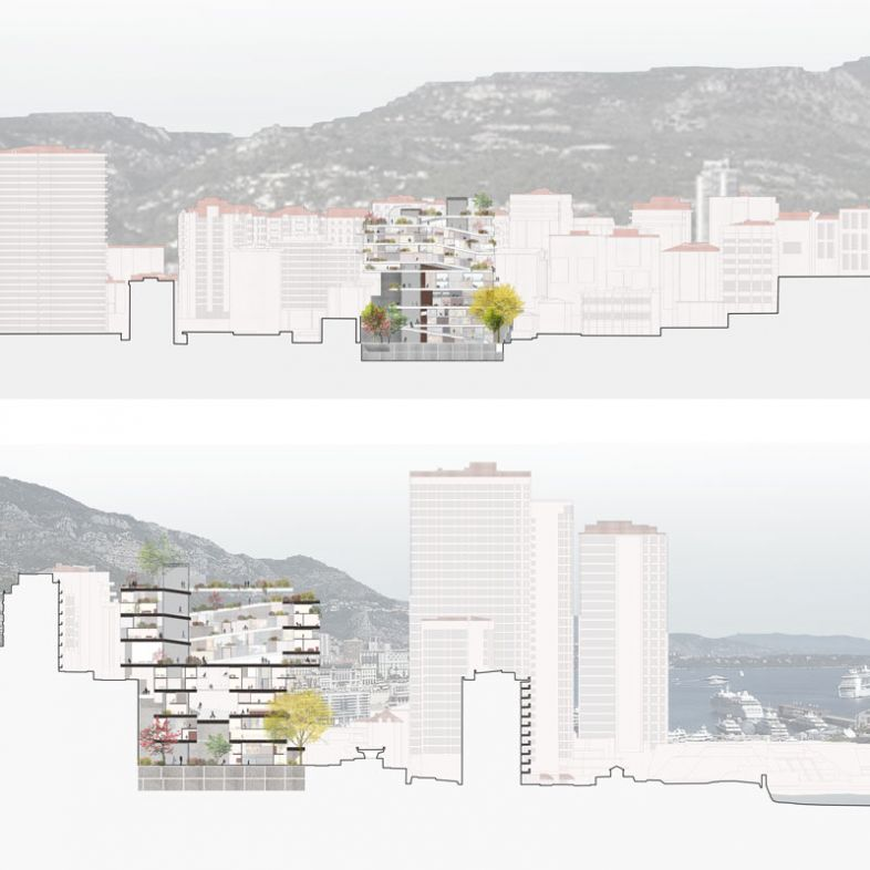 Hybrid tower between street and building - a project by Marta de la Rica Roxas