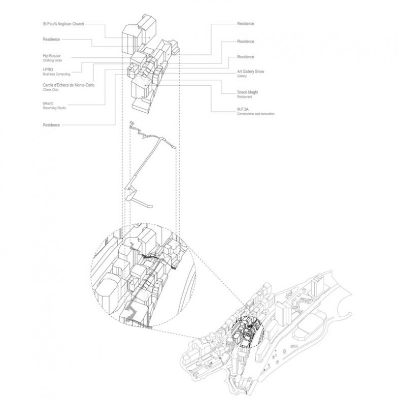 Regeneration of Le Carnier by reconfiguring existing built fabric and public realm- a project by Zejun Li
