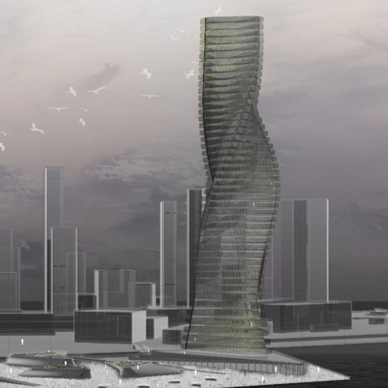 Mix-use Eco tower - a project by Jasmine Gao