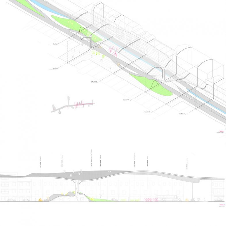 Street canopy and roof landscape - a project by Carlota Manzano Laina