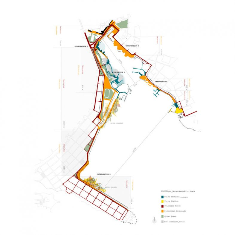 Analysis of Cartagena - Proposed Pedestrian promenade - a project by Juan Alvarez-Vijande Landecho