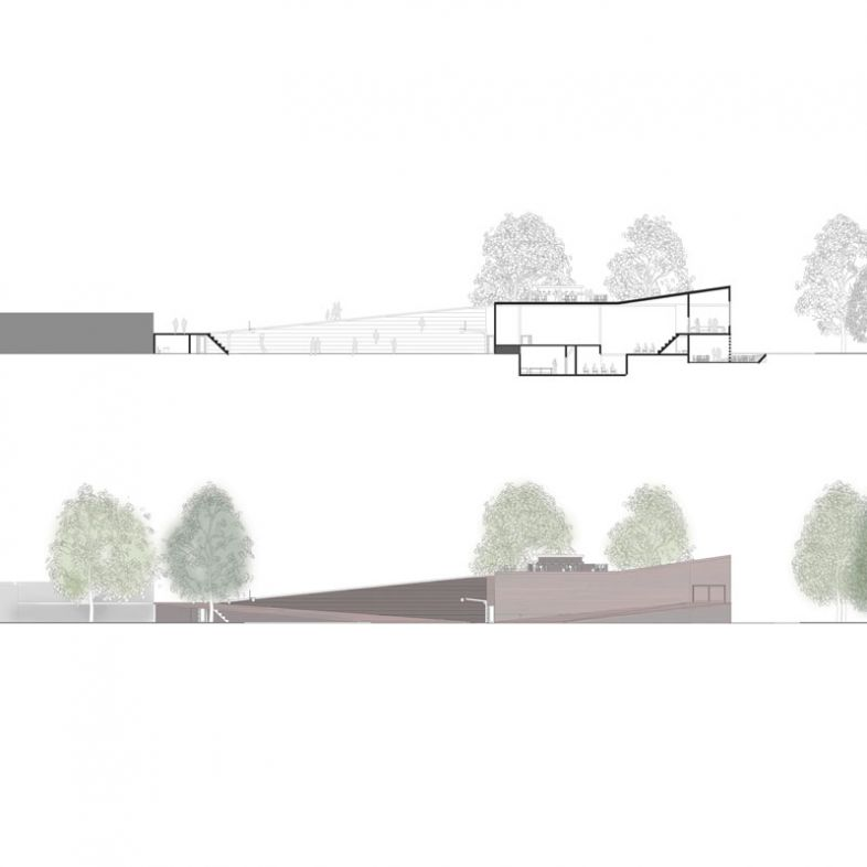 Sport centre and Theater - a project by Elisa Micozzi