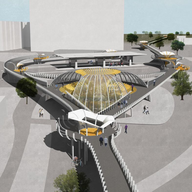 Elevated bike and pedestrian path - a project by Panittra Eawsivigoon